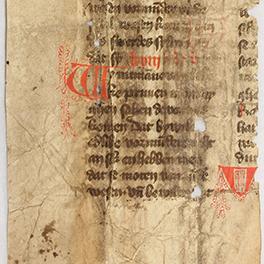 Detail aus dem Wismarer Fragment des Lübischen Rechts